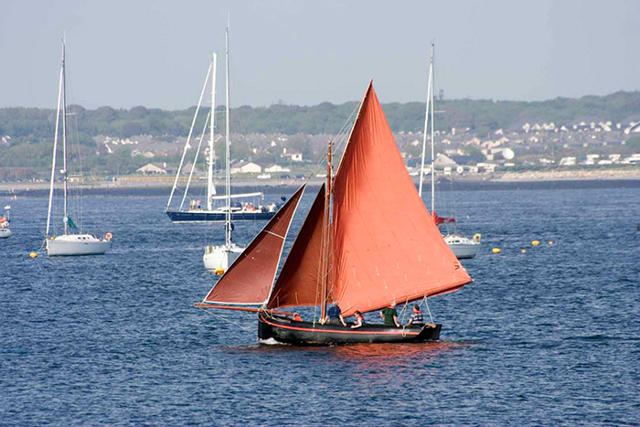 A Traditional Galway Hooker fishing boat
