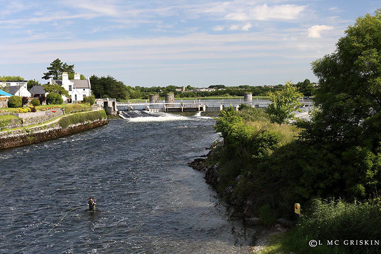 Fishing at the Salmon Weir in Galway